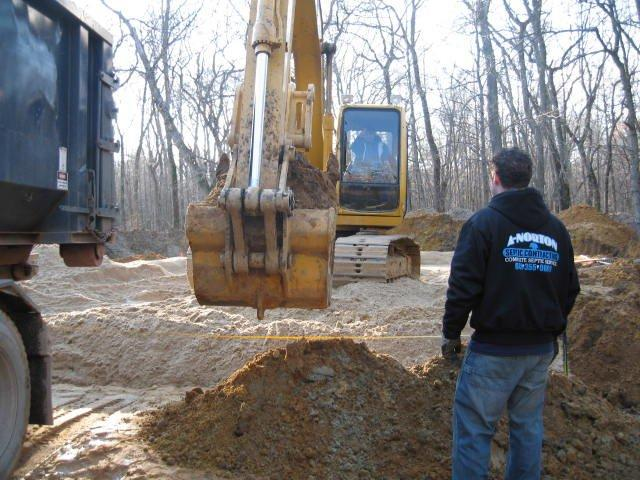 C33 Sand Installation - Septic installations